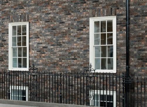 Mursteinfliser fasade