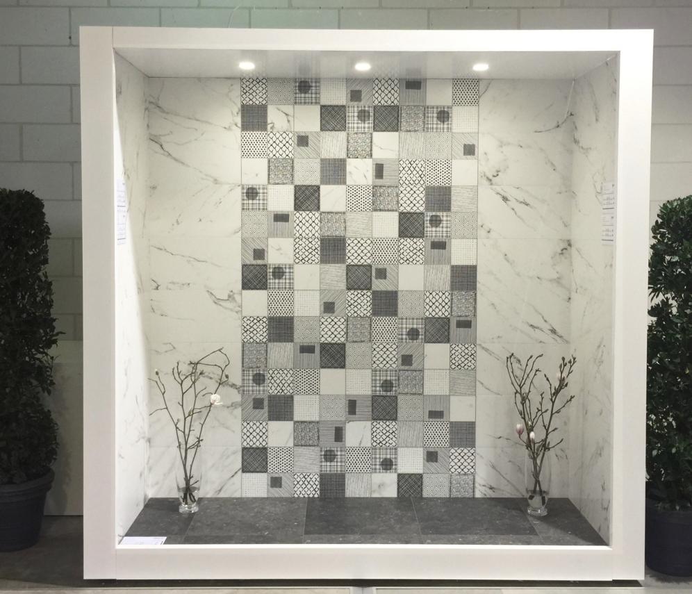 Stonemarble White 15x15 dekormiks satin